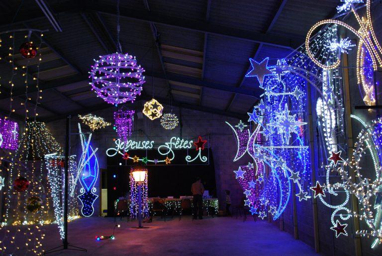 Showroom de présentation des illuminations Lumifete. Décorations de noël pour villes et collectivités.